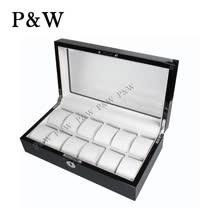 【P&W名錶收藏盒】【玻璃鏡面】 木質鋼琴烤漆 手工精品 【12只裝】錶盒