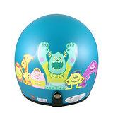 怪獸大學 怪獸家族 半罩式 成人安全帽-藍色底(CA309-83 BLU)