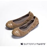 BUTTERFLY TWISTS -LEXI 可折疊扭轉芭蕾舞鞋-優雅褐