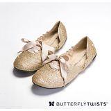 BUTTERFLY TWISTS -EMILY 可折疊扭轉芭蕾舞鞋-閃耀金