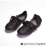 BUTTERFLY TWISTS -EMILY 可折疊扭轉芭蕾舞鞋-閃耀黑