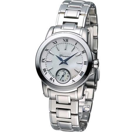 精工 SEIKO Premier 經典小秒針仕女腕錶腕錶 6G28-00T0S SRKZ69J1