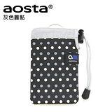 AOSTA CHOUCHOU 繽紛手機袋(灰色圓點)