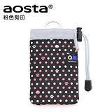 AOSTA CHOUCHOU 繽紛手機袋(粉色狗印)