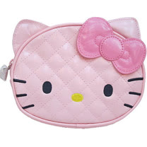 【波克貓哈日網】Hello kitty 凱蒂貓◇化妝包/收納包◇《粉紅菱格紋》