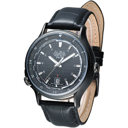 ALBA 優質型男世界時間GMT腕錶(AS9491X1)