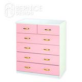 Bernice-防潮防蛀六抽櫃 -粉紅