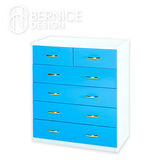 Bernice-防潮防蛀六抽櫃 -藍