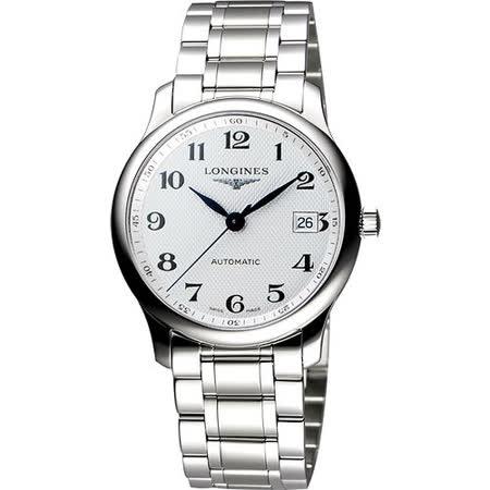 LONGINES Master 巨擘系列機械腕錶-銀 L27934786