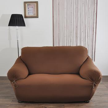 《格藍傢飾》典雅涼感彈性沙發套-咖3人