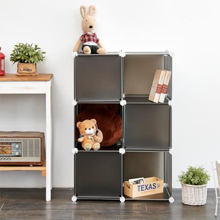 【ikloo】6格6門收納櫃-12吋收納櫃/整理收納組合櫃