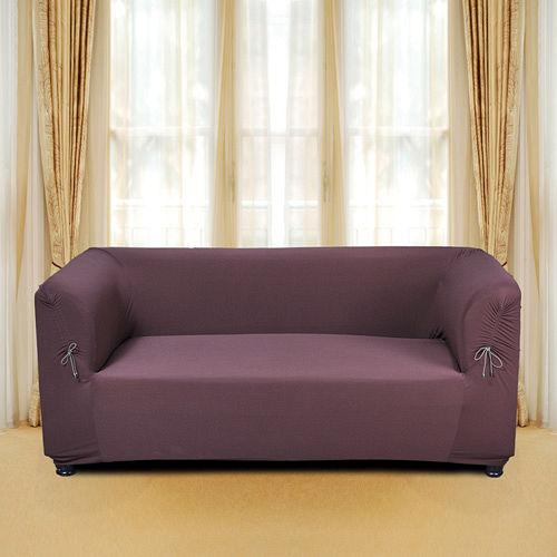 《格藍傢飾》摩登時尚彈性平背沙發套-咖3人