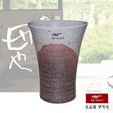 【日本長谷園伊賀燒】日式三角陶土杯(燻黑款大)
