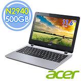Acer E3-112 11.6吋 N2940 四核 500G Win8.1 銀色筆電–送靜電除塵器+指撥式水療按摩器+32G記憶卡