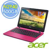 Acer E3-112 11.6吋 N2940 四核 500G Win8.1 粉紅色筆電–送靜電除塵器+指撥式水療按摩器+32G記憶卡