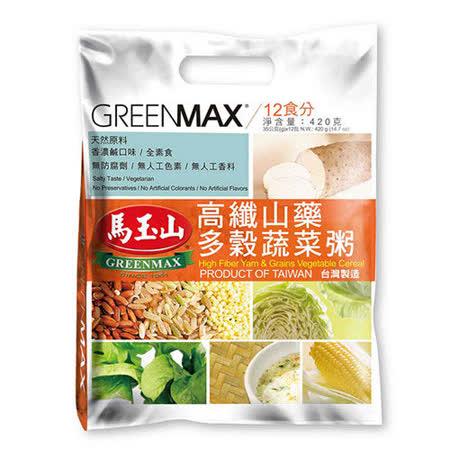 【馬玉山】高纖山藥多穀蔬菜粥(12入/袋)