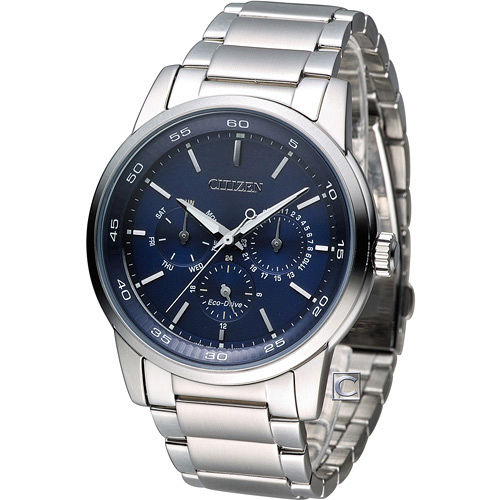 CITIZEN Eco~Drive 星辰 極光 大錶面腕錶 BU2010~57L