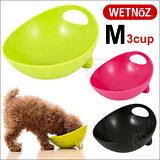 美國WETNOZ《時尚雙用碗M號3杯》法鬥.西施.貓等短鼻寵物必備