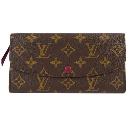 Louis Vuitton M60697 EMILIE新款扣式拉鍊零錢長夾.紅_現貨