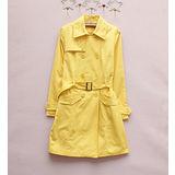 【韓系女衫】 率性復古扣環雙排扣亮麗風衣外套