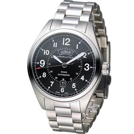HAMILTON 漢米爾頓 卡其陸戰雙曆機械腕錶 H70505133