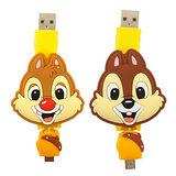 【Disney】Micro USB 造型伸縮傳輸線-奇奇/蒂蒂