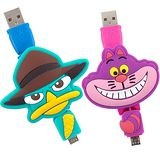 【Disney】Micro USB 造型伸縮傳輸線-柴郡貓/泰瑞