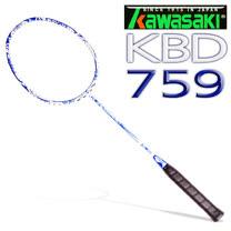 Kawasaki 高級碳纖維羽球拍 青花瓷(白)