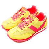 【PONY】女--繽紛韓風慢跑鞋 SOHO 鮮豔拼色 黃螢粉 43W1SO63YW