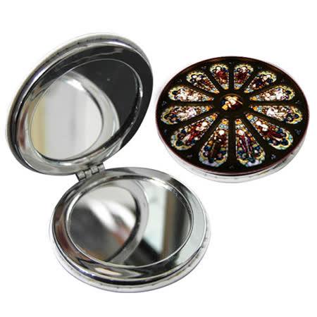 JB Design 隨身圓鏡-耶穌玻璃畫