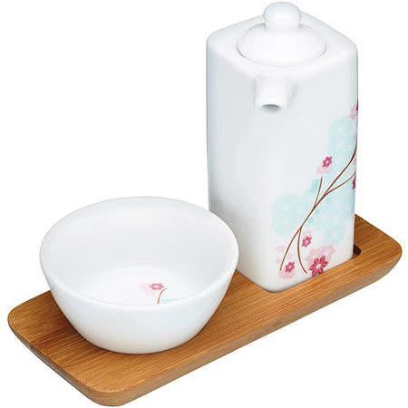 《KitchenCraft》櫻花醬油瓶碟組