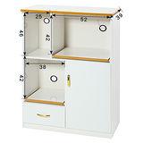 《顛覆設計》潮濕剋星~防水塑鋼2.8尺餐櫃/電器櫃