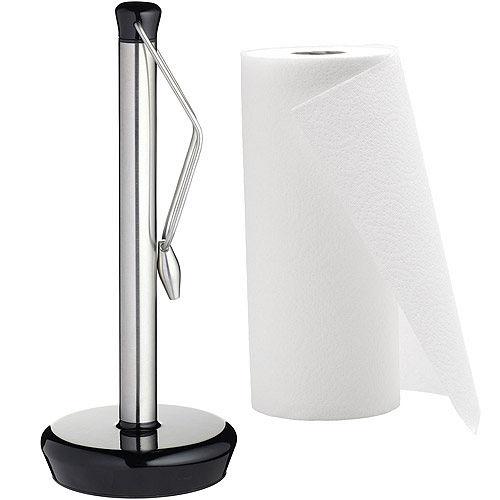 《KitchenCraft》夾式廚房衛生紙架(黑)