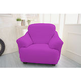 【Osun】一體成型防蹣彈性沙發套、沙發罩素色款(紫色款1人座)