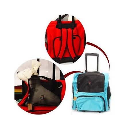 外銷歐美【道格】美式拉桿寵物旅行箱車 (有輪子可背可拉)