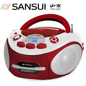 網購嘉年華 SANSUI山水 CD/MP3/USB/SD/AUX/卡帶手提式音響 SC-85C