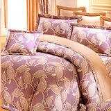 《KOSNEY 秋感魅力 》加大100%活性精梳棉六件式床罩組台灣製