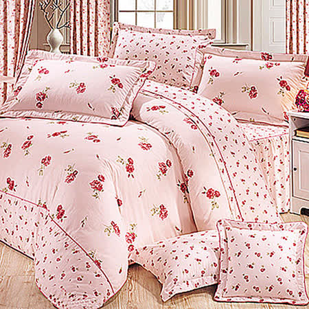 《KOSNEY 情話物語 》加大100%活性精梳棉六件式床罩組台灣製