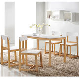 【幸福屋】雪奈實木一桌四椅超值組