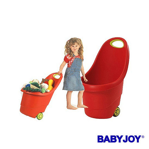 【BABYJOY】可以拉著走的玩具桶