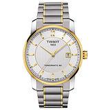 TISSOT T-Classic Powermatic 80沉穩優雅鈦金屬機械腕錶(半金/40mm) T0874075503700