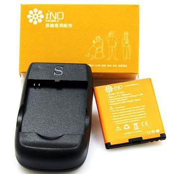 iNO 極簡風銀髮族御用手機(3G WCDMA頂級版)原廠電池+座充 CP100
