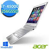 Acer S7-392 13.3吋 i7-4510U 256G SSD 輕薄強效觸控筆電 - 送DVD燒錄機+acer無線鼠