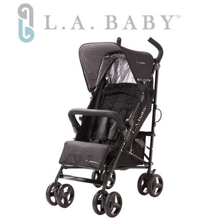 【嬰兒推車L.A. Baby 美國加州貝比】時尚輕便嬰兒手推車(黑色/紅色/藍色)