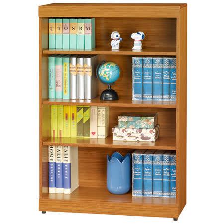 HAPPYHOME 淺柚木3x4尺開放書櫃164-276可選色