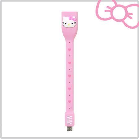 Hello Kitty 行動OTG USB 傳輸線-紅心粉 (KT-OTG01P)