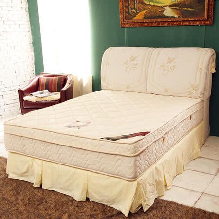 TOTOMI 絲棉抗菌包覆式圍邊三線獨立筒4尺單人加大床墊