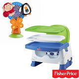 費雪牌 Fisher-Price寶寶小餐椅+費雪 動物造型餐椅玩具