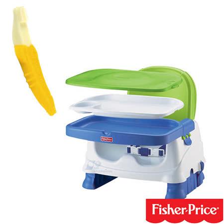 費雪牌 Fisher-Price寶寶小餐椅+香蕉固齒器/幼兒牙刷/香蕉牙刷 1-2歲