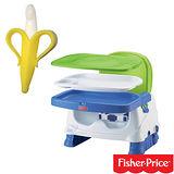 費雪牌 Fisher-Price寶寶小餐椅+幼兒學習軟性香蕉牙刷0-1Y(可當固齒器使用)